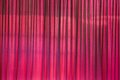 Red theater curtain closed before the show begin Stock Photo