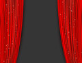 Red theater curtains with glitter. abstract background Royalty Free Stock Photo