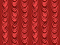 Red theatre cinema curtains  Royalty Free Stock Image