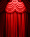 Red theatre curtain Royalty Free Stock Photo