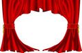 Red theatre style curtains Royalty Free Stock Photography