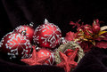 Red theme Christmas decorations Stock Image