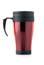 Red thermo cup isolated on white Royalty Free Stock Image