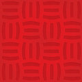 Red three striped grid on checkered background Royalty Free Stock Photo