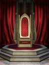 Red throne room Stock Images