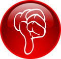 Red thumb down button Royalty Free Stock Photo