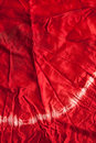 Red Tie-dye Silk Texture Royalty Free Stock Photo
