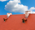 Red tile roof Royalty Free Stock Image