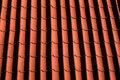 Red tile roof in germany background pattern typical and other germanic and european countries the is strong and lasts forever Stock Photography