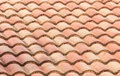 Red tile roof old pattern texture Royalty Free Stock Image