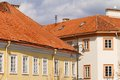 Red tile roof of Vilnius Old Town Stock Photo