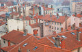 Red tile roofs in Lyon Royalty Free Stock Image