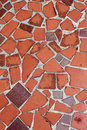 Red tiled floor background.jpg Stock Photos