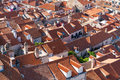 Red tiled roofs of the old town in Dubrovnik Royalty Free Stock Photo
