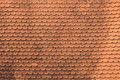Red tiles roof background texture detail of a Royalty Free Stock Photo