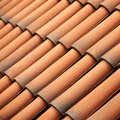 Red tiles roof texture architecture background detail of house close up Stock Photography