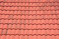 Red tiles roof in thailand Stock Photo