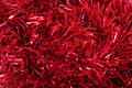 Red Tinsel Stock Photo