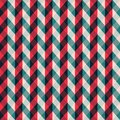 Red tissue seamless pattern with blue stripes Royalty Free Stock Photo