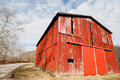 Red Tobacco Barn Stock Images