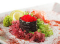 Red Tobiko Sushi Royalty Free Stock Photo
