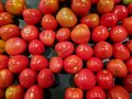 Red tomato for sale at organic market. Royalty Free Stock Photo
