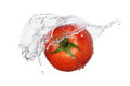 Red tomato splash Stock Photography