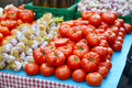 Red  tomatoes and garlic Royalty Free Stock Photo
