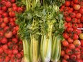 Red tomatoes and green celery