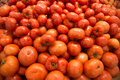 Red tomatoes at supermarket Stock Image