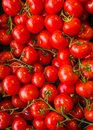 Red tomatoes at vegetables market Stock Images