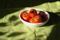 Red tomatos in the bowl Royalty Free Stock Photography