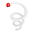 Red top leader sphere on staircase ladder Royalty Free Stock Photo