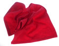Red towel on white background Royalty Free Stock Images