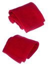 Red towels on white background Royalty Free Stock Photography