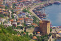 Red tower in alanya turkey named kizil kule Stock Photography