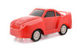 Red toy car white background Royalty Free Stock Images