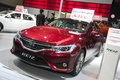 Red toyota reiz car new in the th zhengzhou dahe spring international auto show take from zhengzhou henan china Royalty Free Stock Photography