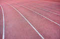 Red track lanes Royalty Free Stock Photo