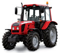 Red tractor isolated on white background Stock Photography