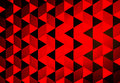 Red triangle pattern wall Stock Images
