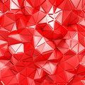 Red triangle poligon chaotic pattern wall background Royalty Free Stock Photo