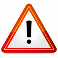 Red triangle warning sign Stock Image