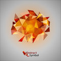 Red triangles as abstract symbol on the gray background Royalty Free Stock Image