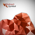Red triangles background vector abstract on the grey background Stock Photo