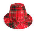 Red trilby hat Royalty Free Stock Photo