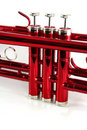 Red trumpet valves Stock Image