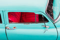 Red and turquoise old car Royalty Free Stock Photo