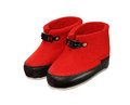 Red uggs on white background Stock Image