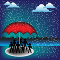 The red umbrella Royalty Free Stock Photos
